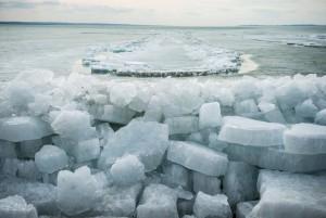 Jégtáblák Balatonakarattyán