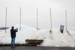 Szántód rév jégtáblák