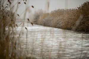 Befagyott a Hortobágy-Berettyó folyó