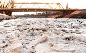 Rába jégzajlás Győr