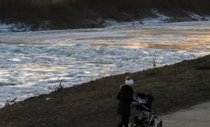 Jégtáblák a Közép-Tiszán