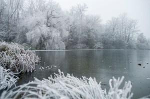 Malomvölgyi-tó Télen