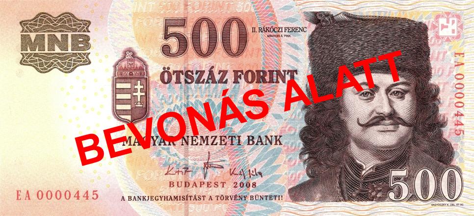 Régi 500 forintos bankjegy