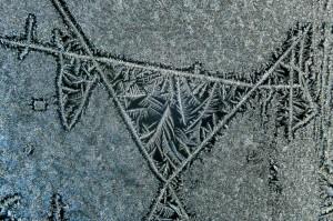 Jégvirág az ablakon SAlgótarján
