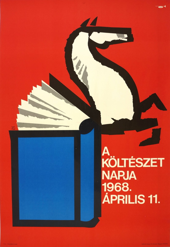 Költészet Napja Plakát 1968 Grafikus - Zelenák Crescenda Forrás - Bedő Papírrégiség